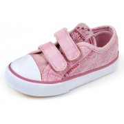 Baskets fille en toile Flores rosa